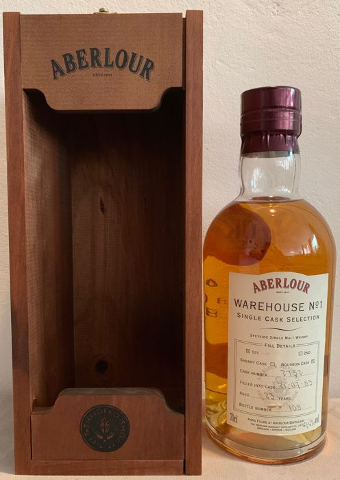 Aberlour 1985 23 years old - Warehouse No1 Single Cask Selection Hand filled - b. 1980s - 0.7 Ltr