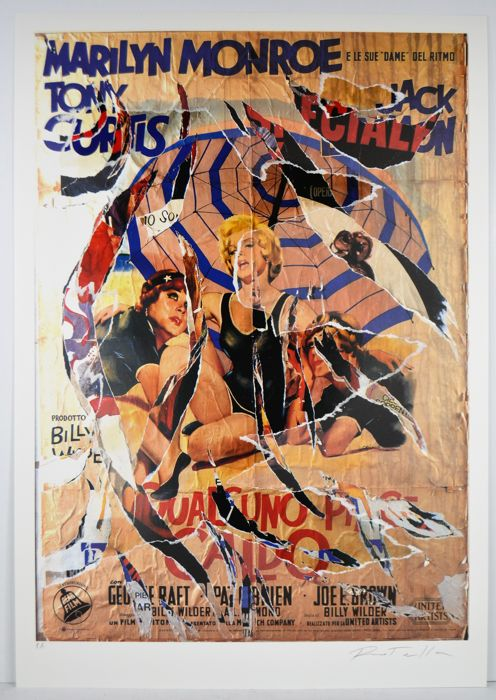 Mimmo Rotella - A qualcuno piace caldo (Some Like it Hot)