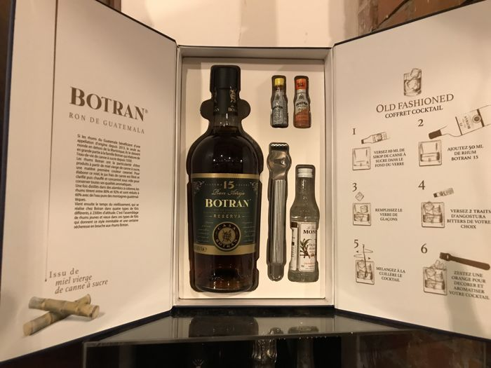Botran 15 years old - Reserva - Old Fashioned coffret cocktail - 70cl