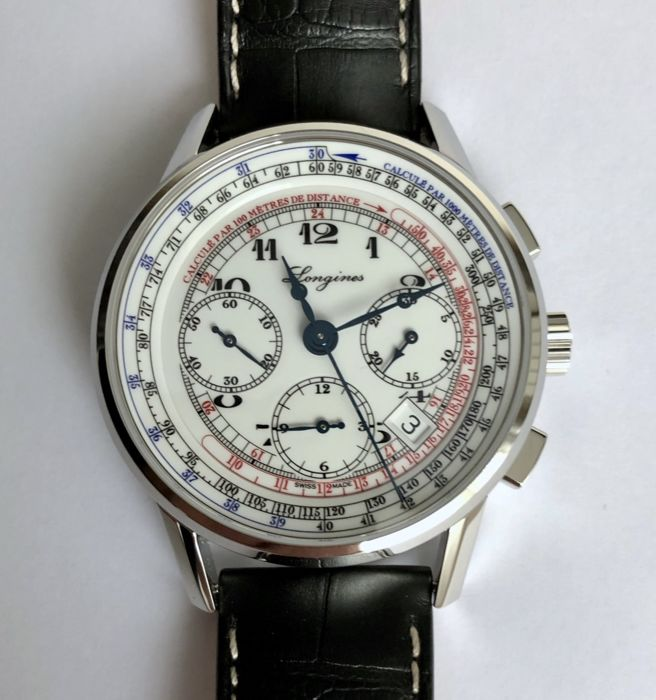 Longines - Heritage Tachymeter Chronograph Automatic - L2.781.4 - Heren - 2011-heden
