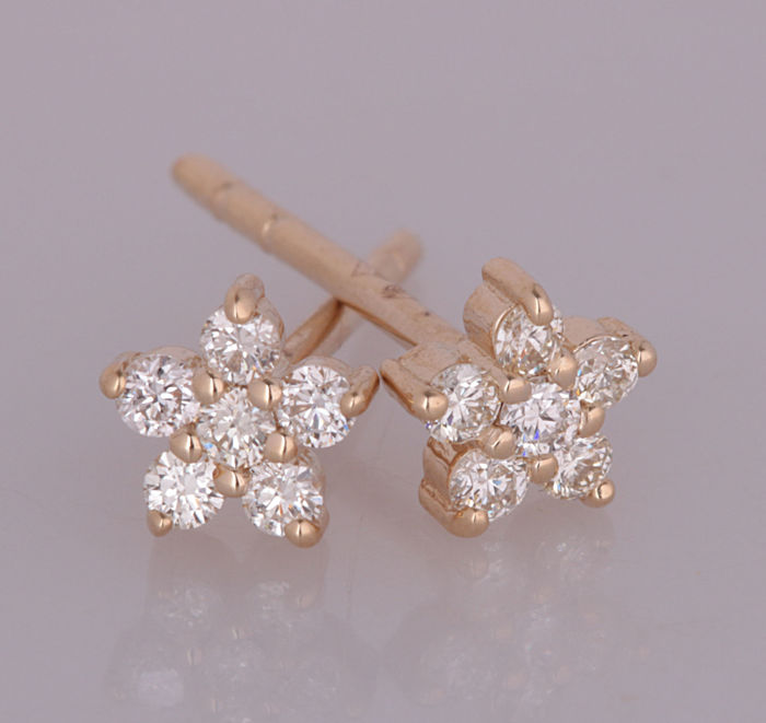 14 quilates Oro amarillo - Pendientes - 0.25 ct Diamante - Diamante