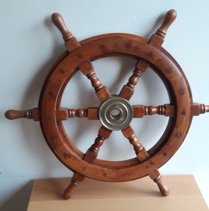 steering wheel (1) - Hout, Messing