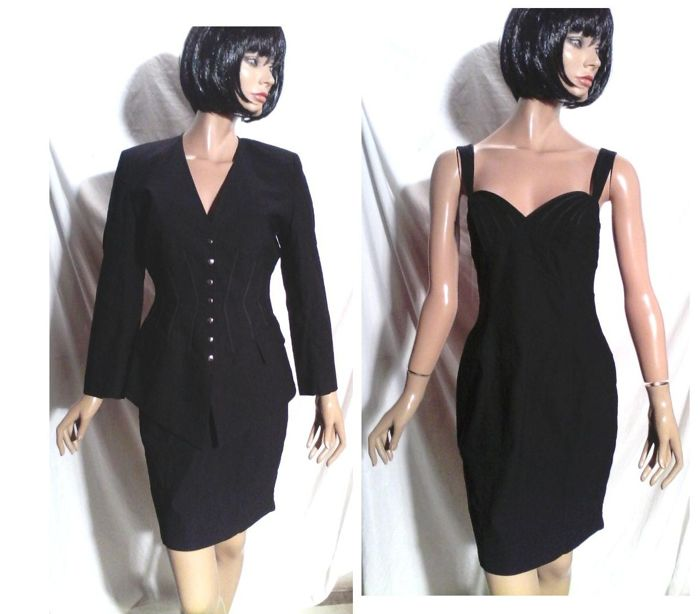 Nathalie Chaize Jacket And Black Pin Up Dress Catawiki