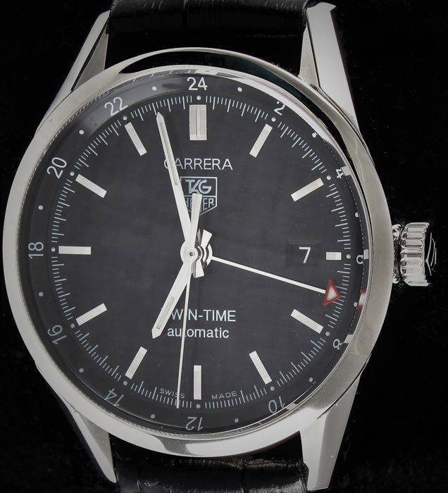 TAG Heuer - Carrera Twin Time Calibre 7 - Automatic  - Ref.No: WV21160 - Excellent - Warranty - Mænd - 2011-nu