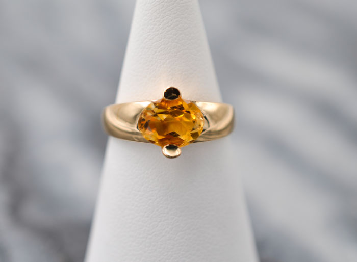 18 kt. Yellow gold - Ring - 2.10 ct Citrine
