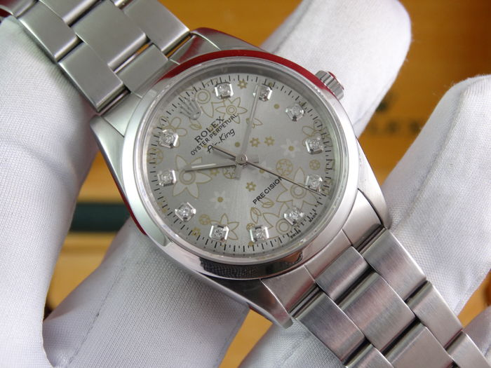 Rolex - Oyster Perpetual Airking Diamonds - 14000 - Unisex - 1990-1999
