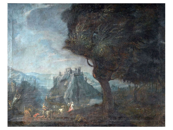 Unknown - Landscape with ruins