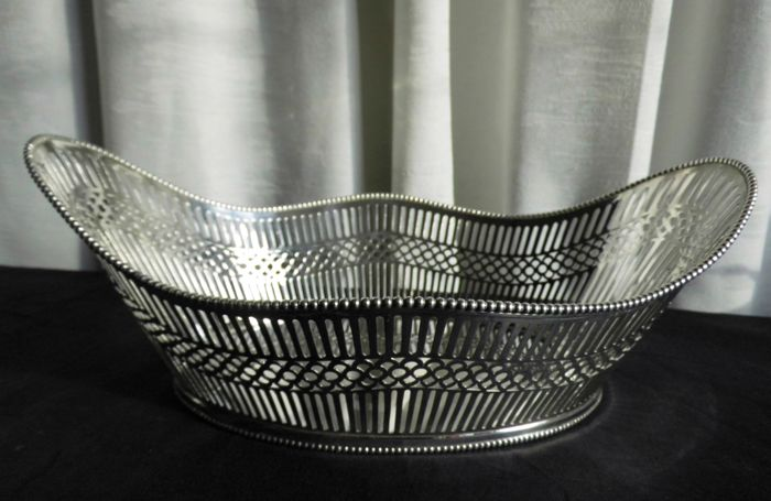 Bread basket - Silver plated - Netherlands - 1950-1999