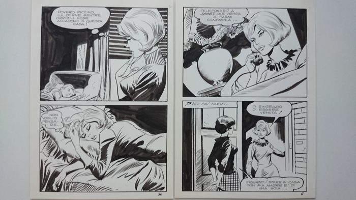 Terror - Leone Frollo  - 2x original pages - Loose page - First edition