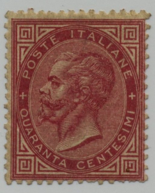 Italy Kingdom 1863 - 40 cents carmine pink - Sassone N 20