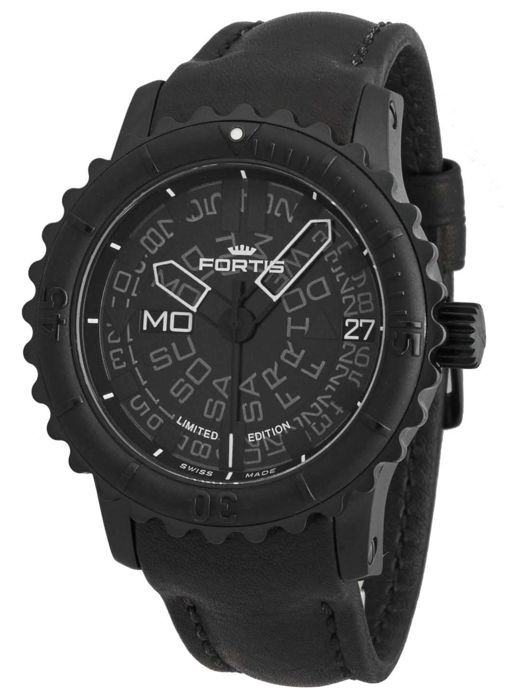 Fortis - B-47 Big Black Day/Date Automatic - 675.18.81 L.01 - Heren - 2011-heden