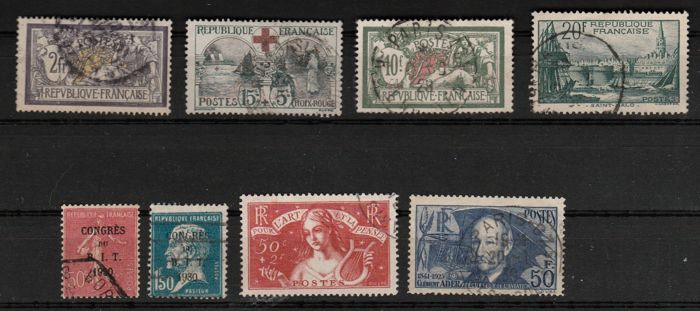 France 1900/1938 - Selection of values, semi-moderns - Yvert