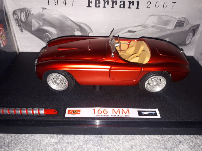Hot Wheels Elite - 1:18 - Ferrari 166 MM - 60 year edition