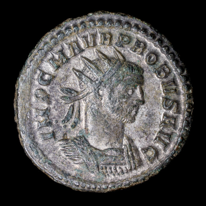 Roman Empire - Antoninianus  - Probus (276-282 A.D) - Rome mint, 276-277 A.D. VIRTVS AVG - silvered bronze