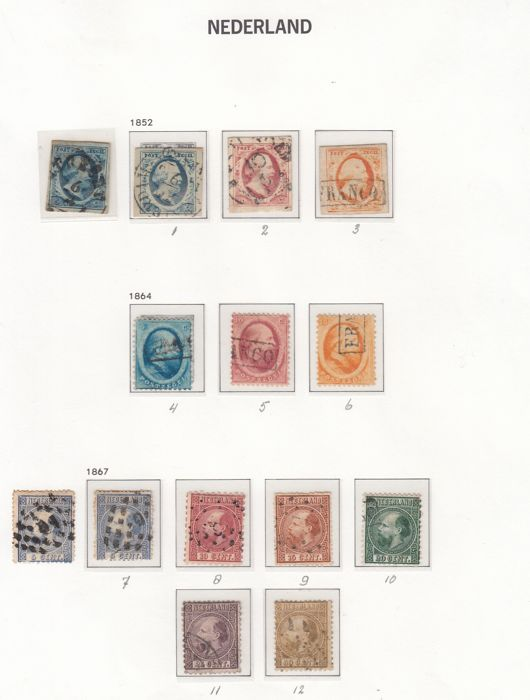 Hollandia 1852/1989 - Collections in two DAVO albums - NVPH
