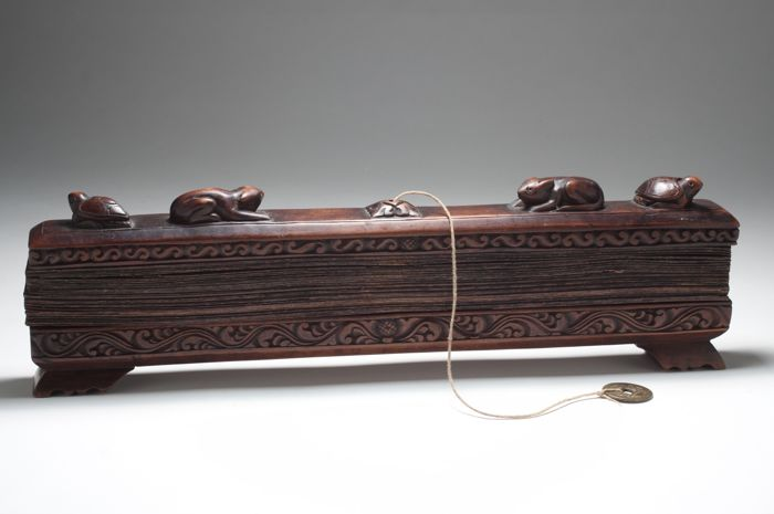 Prayer Book - Wood and palm leaves - Burma - mid 20th century