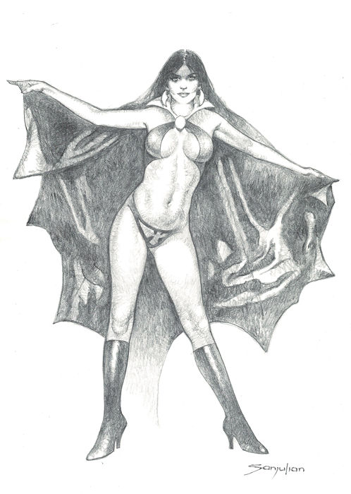 Vampirella - Original Drawing DIN A3 - Sanjulian - Pencil Art - (2018)