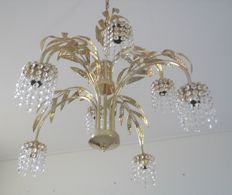 Gorgeous crystal chandelier - brass, crystal