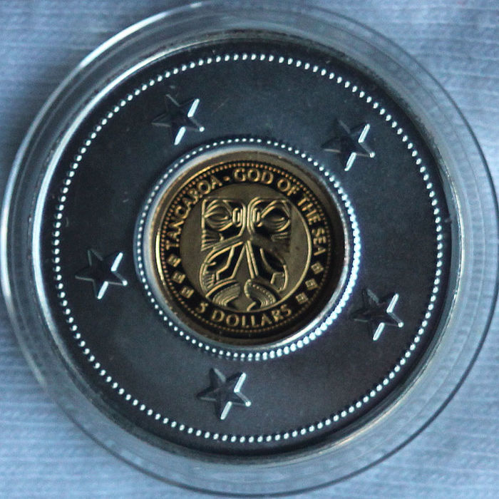 Cook Islands - 5 Dollar 2011 'Tangaroa God of the Sea'  - Gold