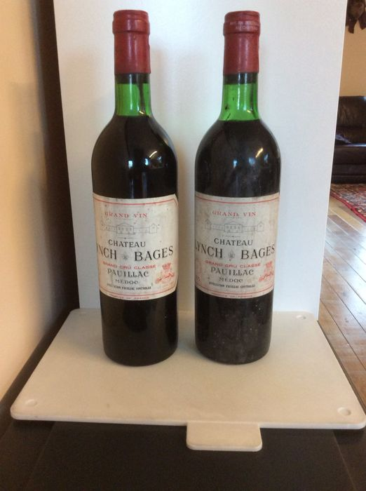 1975 Chateau Lynch Bages - Pauillac Grand Cru Classé - 2 Bottles (0.75L)