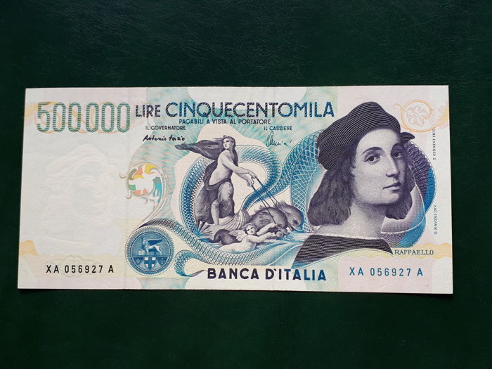 Italy - 500,000 lire 1997 - replacement series - Gigante BI 86Aa