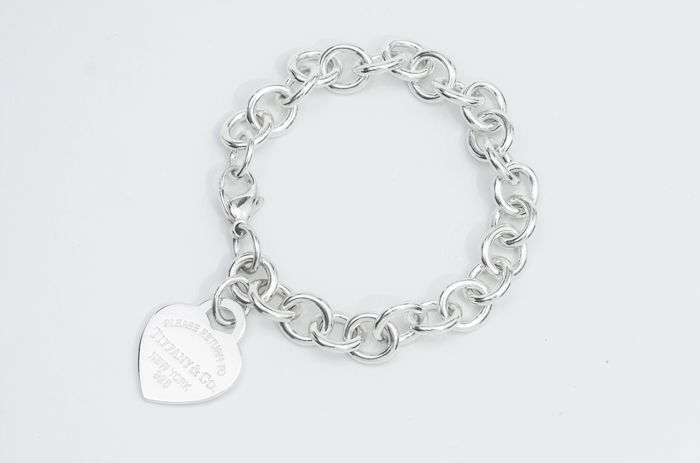 Tiffany & Co  Heart Tag Charm Bracelet Silver - Bracelet