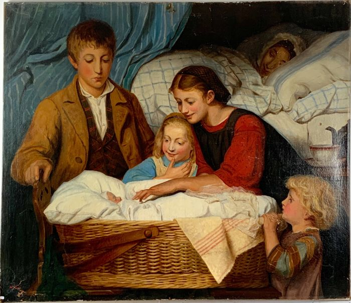 Htte Baisc (19th century) - Meeting the new baby