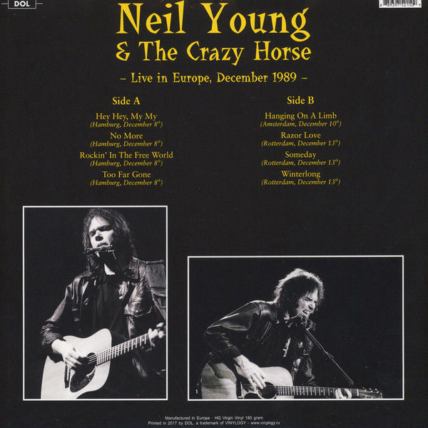 Neil Young Three great live albums Flera titlar Catawiki
