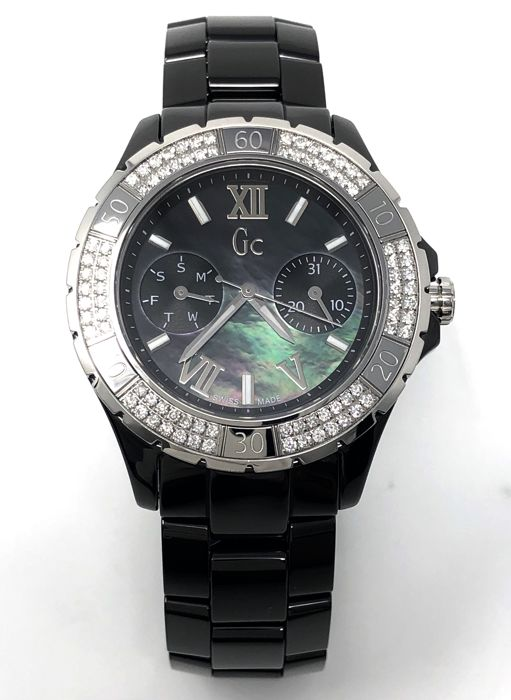 Guess Collection - 84 Diamonds Black Ceramic GC Precious Collection Sports Class Glam Swiss made - X69112L2S - Kvinnor - 2011-nutid