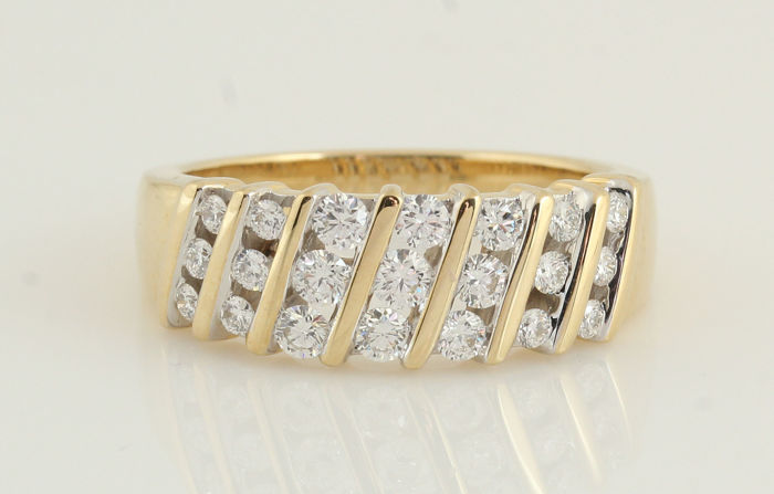 14 quilates - Anillo Diamante - diamantes