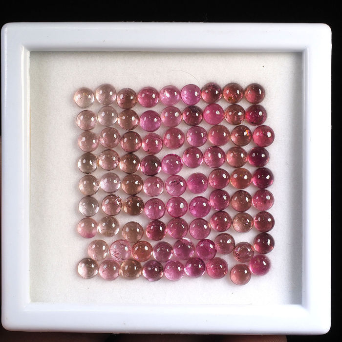 90 pcs Red-pin Tourmaline - 25.20 ct