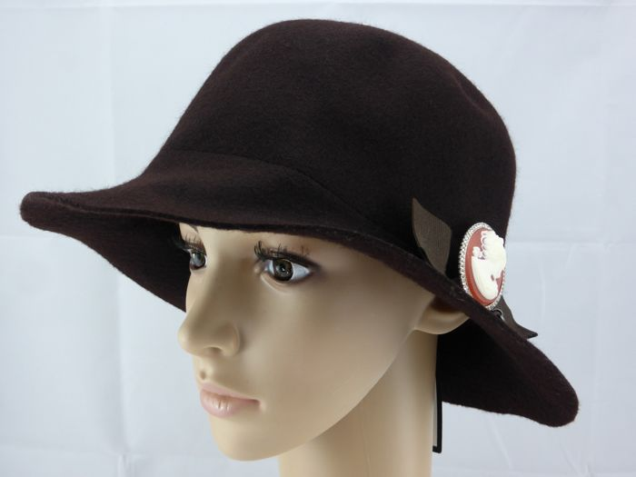 Borsalino Swarovski Wool Bow Cloche Hut Catawiki