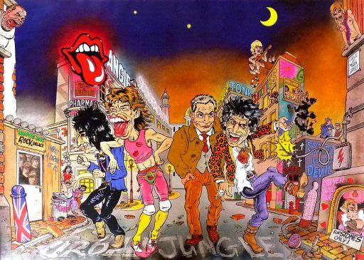 Rolling Stones Forty Licks 2cd 2 Caricatures Urban Catawiki