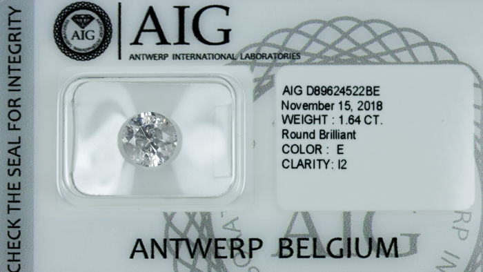 Diamant - 1.64 ct - Briljant - E - *NO RESERVE*, P2