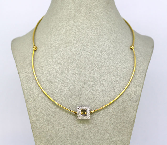 Pomellato - 18 kt. Yellow gold - Necklace, Choker Diamond