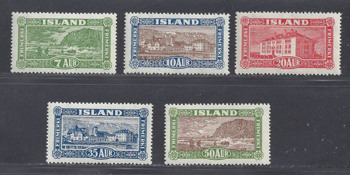 Island 1925 - Landscapes and buildings - Michel 114/118