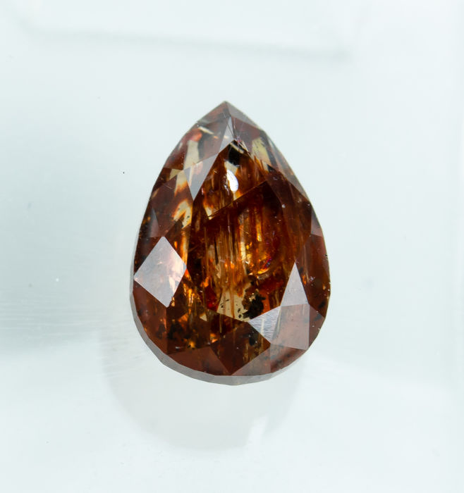 Diamant - 1.65 ct - Natural Fancy DEEP Orange-Brown - I3 *NO RESERVE*