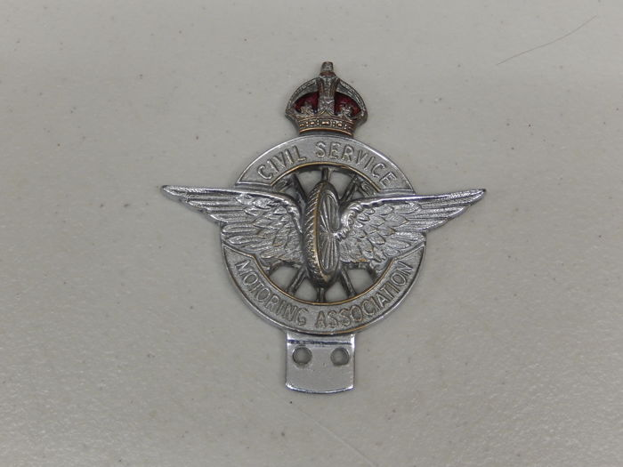 Badge - CSMA Civil Service Motor Association Car Badge - 1960-1970
