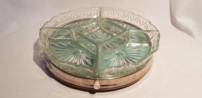 Old Dutch rotating serving dish - Glass