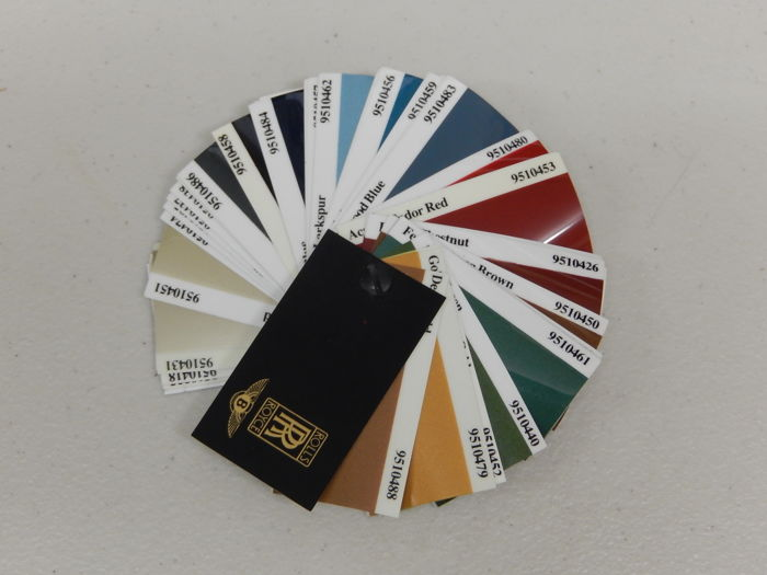 Brochures / Catalogi - Vintage Rolls Royce Leather and Paint Car Swatch Sets  - 1960-1980 (2 items)