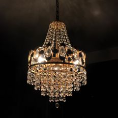A small but very elegant 1970's crystal chandelier