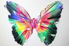 Damien Hirst - Butterfly Spin Painting