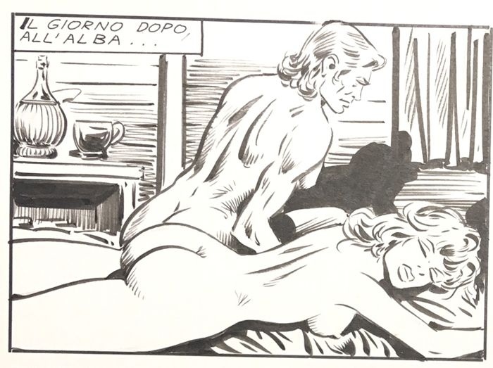 Bonnie #63 - Camillo Zuffi - 10x original pages - Sexy + Splash! - Loose page - First edition - (1971)