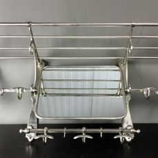 Large coat rack in Art Deco style with mirror - Nickel-plated