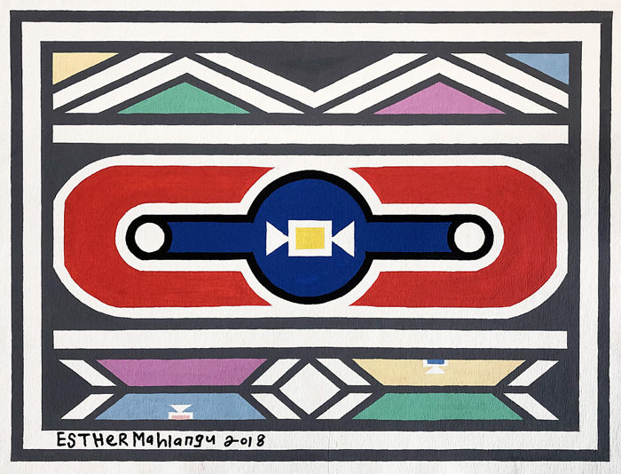 Esther Mahlangu - abstract
