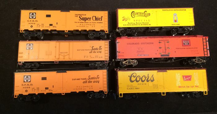Athearn , AHM H0 - Freight carriage - 6x - Different railways
