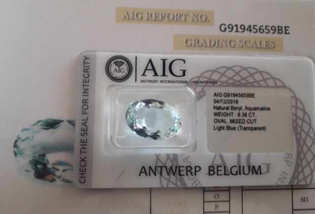 Aquamarijn - 6.36 ct