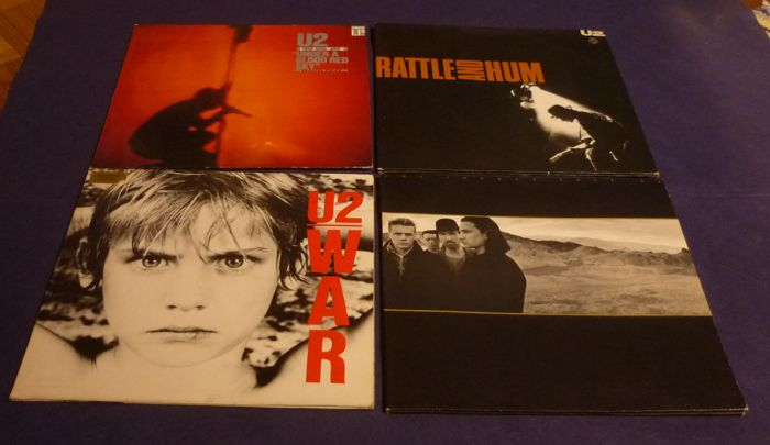U2 - 4 records - War / Rattle and Hum / Under a blood red sky