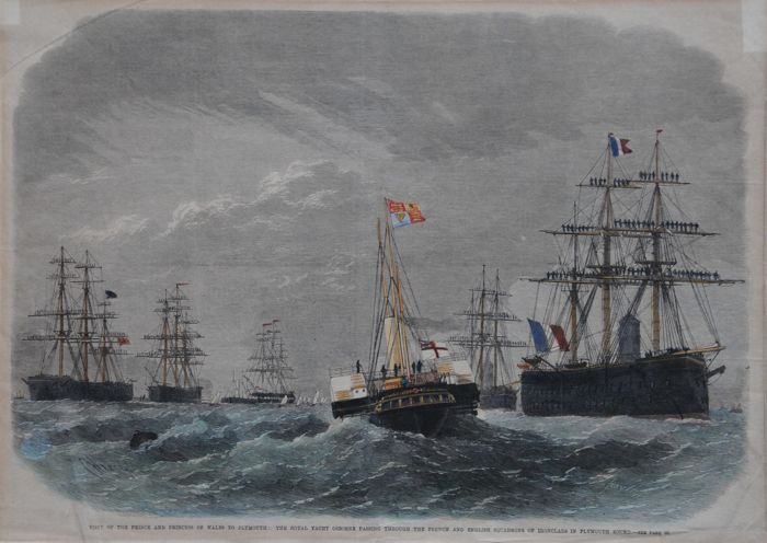 Wielka Brytania, Plymouth; Weedon - Visit of the price and pricess of Wales to Plymouth - 1861-1880