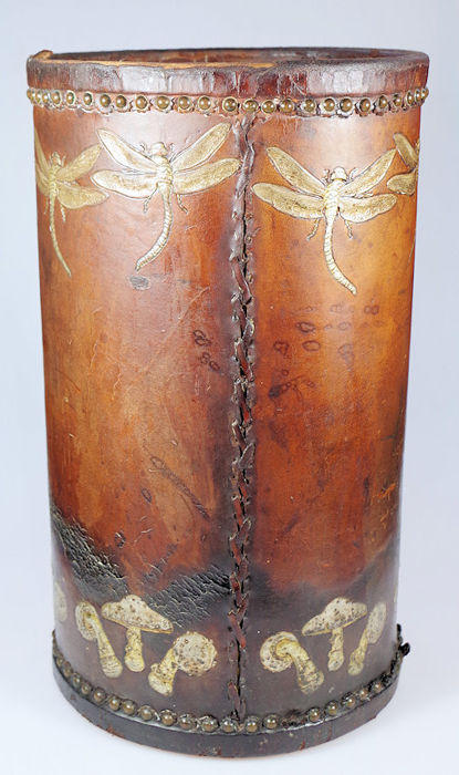 Georg Hulbe - Art Nouveau leather umbrella standard